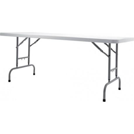 worktop180 table pliante hauteur ajustable 180 x 76 cm pour traiteur. Black Bedroom Furniture Sets. Home Design Ideas